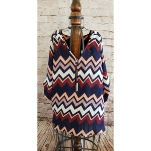 🌴5 for $25🌴Wishful Park Chevron top